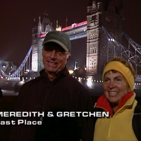 Meredith & Gretchen were eliminated from the race in 4th place.