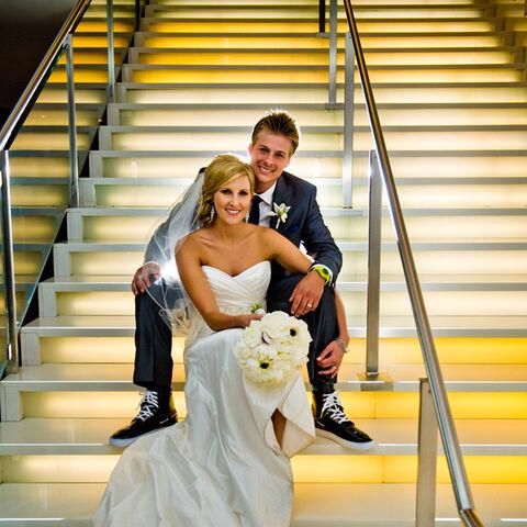 Meghan & Cheyne on their wedding day.