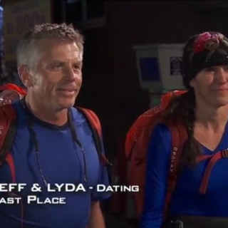 Jeff and Lyda were eliminated from the race at 11th place after having been U-Turned by Mike & Rochelle.