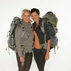 Carol & Brandy's alternate promotional photo for <i>The Amazing Race</i>.