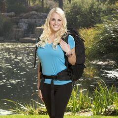 Hayley's promotional photo for <i>The Amazing Race</i>.