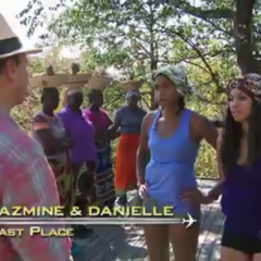 Jazmine & Danielle were eliminated from the race at 8th place after committing two fatal errors at the resort.