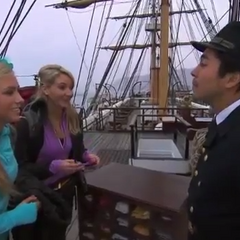 Ally & Ashley on the ship in the <a href=