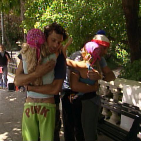 Brian & Greg gave Megan & Heidi a tearful goodbye after Megan & Heidi's elimination.