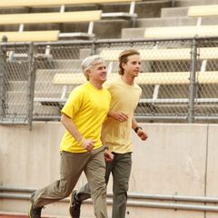 Dave & Connor running to the the <a href=