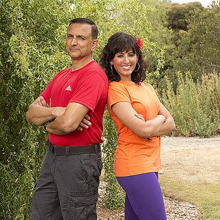 Hoskote & Naina's alternate promotional photo for <i>The Amazing Race</i>.