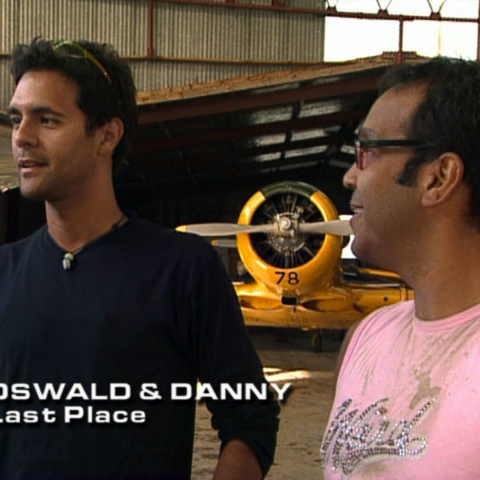 Oswald & Danny were eliminated from the race in 4th place.