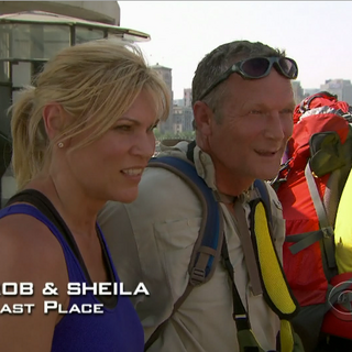 Rob & Sheila were eliminated from the race in 11th Place after losing in a footrace to <a href=