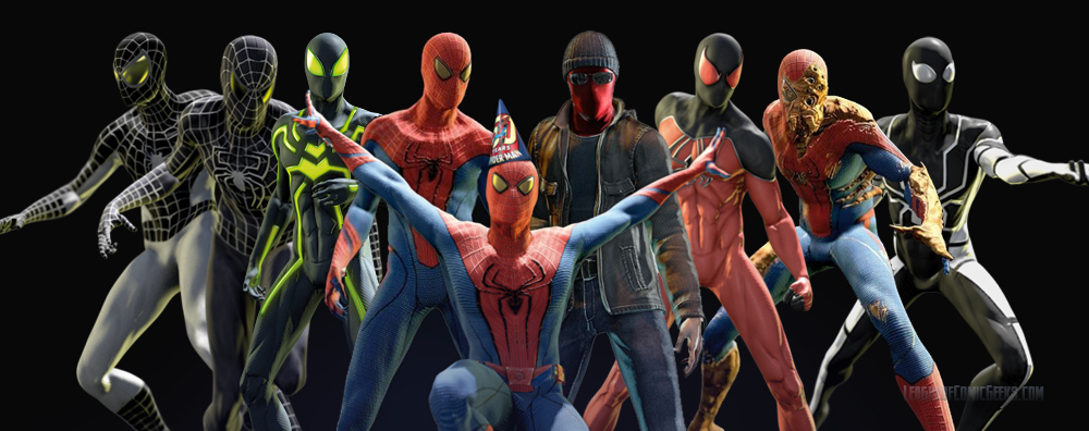 Skins : amazing spider man all costumes  - Germanpascual.Com