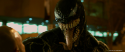 Venom showing his tongue promotional still