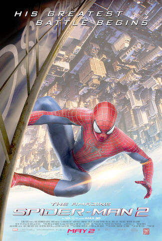 "File:The Amazing Spider-Man 2 (2014) ""His Greatest Battle Begins"" Movie Poster.jpg"