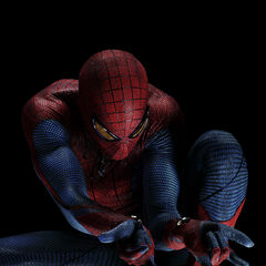 Spidey gets ready to shot his webs.