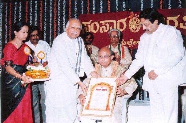 File:Gourang Kodical from Facebook being honoured by Samskara Bharati - Bangalore Chapter.jpg
