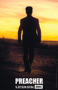 Preacher season 1 poster - Jesse Custer silhouette