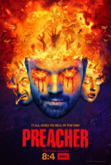 Preacher season 4 poster - It All Goes to Hell in the End