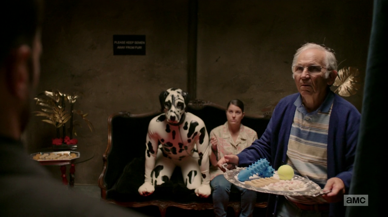 Jesse Cassidy and Tulip presented with options for a sex act with a man in a dalmatian costume.png  sc 1 st  Preacher Wiki - Fandom & Image - Jesse Cassidy and Tulip presented with options for a sex ...