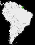 Mapa de Cunania en Sudamérica
