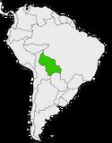 Mapa de Fedeura en Sudamérica