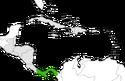 Mapa de Panamá en Centroamérica