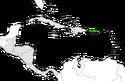 Mapa de Puerto Rico en Centroamérica