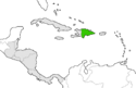 Mapa de República Dominicana en Centroamérica