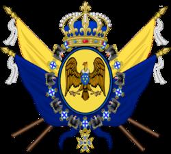 Escudo mediano Casa de Orleans-Borbón