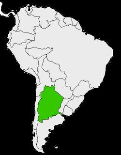 Mapa de Argentina en Sudamérica