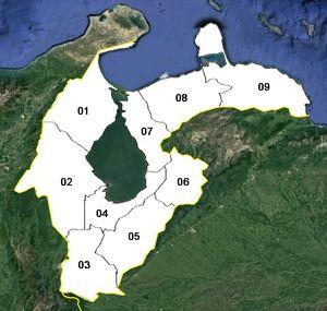 Zulia (mapa político)