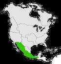Mapa de México en Norteamérica