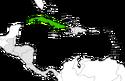 Mapa de Cuba en Centroamérica