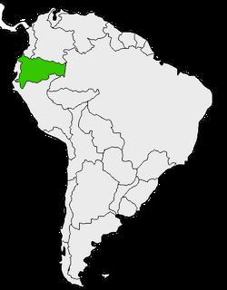 Mapa de Ecuador en Sudamérica