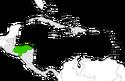 Mapa de Honduras en Centroamérica