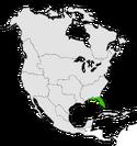 Mapa de Florida en Norteamérica