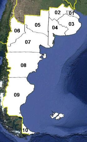Patagonia (mapa político)