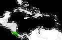 Mapa de Costa Rica en Centroamérica