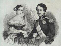 Antonio de Orleans y Luisa Fernanda de Borbón, duques de Montpensier
