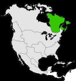 Mapa de Quebec en Norteamérica