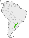 Mapa de Fluminia en Sudamérica