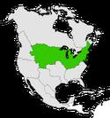 Mapa de Estados Unidos en Norteamérica
