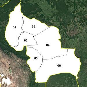Fedeura (mapa político)