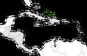 Mapa de Turcas y Caicos en Centroamérica