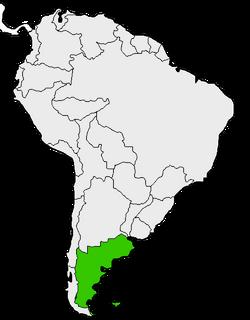 Mapa de Patagonia en Sudamérica