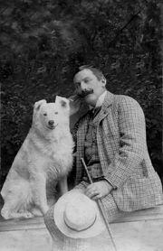 Antonio II con su perra Tungurahua