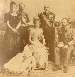 Antonio y Eulalia, príncipes de Azuay. Visita de Estado a Federalia (1892)