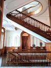 Koa-wood-staircase-in-iolani-palace-in-hawaii