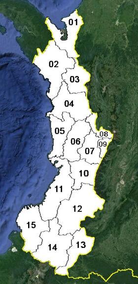 Cauca (mapa político)