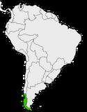 Mapa de Araucanía en Sudamérica