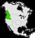 Mapa de Oregon en Norteamérica