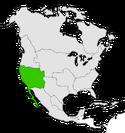 Mapa de California en Norteamérica