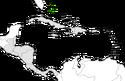 Mapa de Bahamas en Centroamérica